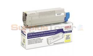 OKIDATA C6150 TONER CARTRIDGE YELLOW (43865717)