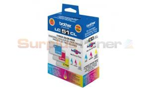 BROTHER DCP 130C COLOR INK COMBO PACK (LC51CL)