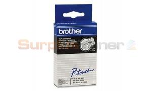 BROTHER P-TOUCH TAPE BLACK/CLEAR 12MM X 7.7M (TC-101)