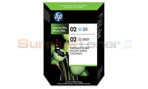 HP 02 INK CARTRIDGES 1 LIGHT CYAN 1 LIGHT MAGENTA (CC619BL)