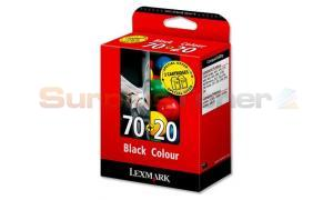 LEXMARK 70 20 INK CTG BLACK/COLOR COMBO PACK (0080D2127)