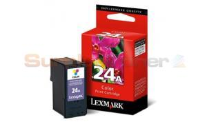 LEXMARK NO 24A PRINT CARTRIDGE TRI-COLOR (18C1624E)
