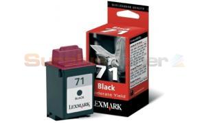 LEXMARK NO 71 PRINT CARTRIDGE BLACK (15M2971E)