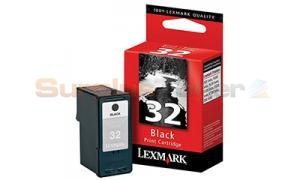 LEXMARK NO 32 PRINT CARTRIDGE BLACK (18CX032)
