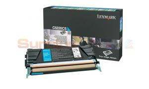 LEXMARK C524 TONER CARTRIDGE CYAN RP (C5220CS)