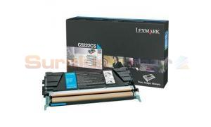 LEXMARK C524 TONER CARTRIDGE CYAN 3K (C5222CS)