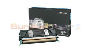 LEXMARK C524 TONER CARTRIDGE BLACK 4K (C5222KS)