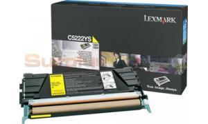LEXMARK C524 TONER CARTRIDGE YELLOW 3K (C5222YS)
