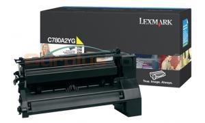 LEXMARK C780 X782 TONER CARTRIDGE YELLOW 6K (C780A2YG)
