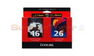 LEXMARK 16 26 INK CARTRIDGES BLACK/COLOR (10N149)