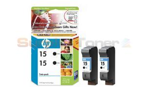 HP 15 INKJET PRINT CART BLACK TWIN PACK (C6653FN)