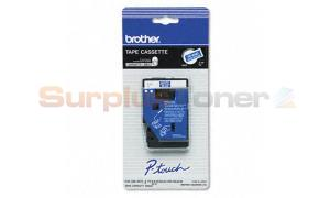 BROTHER 3/8IN WHITE/BLUE TAPE FOR PT-6/25/150/170 (TC-64Z1)