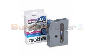 BROTHER TX TAPE CTG FOR PT-8000 BLACK/BLUE 24 MM X 15 M (TX-5511)