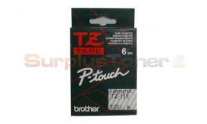 BROTHER TZ TAPE BLACK ON CLEAR 1/4 WIDTH (TZ-111)