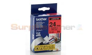 BROTHER TZ TAPE CTG BLACK ON RED 1IN WIDTH (TZ-451)