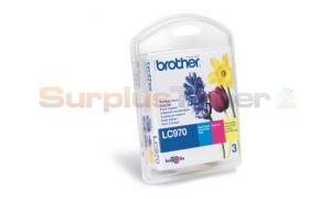 BROTHER MFC-235C LC970 INK CARTRIDGE RAINBOW PACK CMY (LC-970RBWBP)