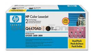 HP COLOR LASERJET 3600 TONER CARTRIDGES BLACK (Q6470AD)