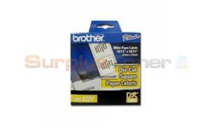 BROTHER P-TOUCH SQUARE PAPER LABELS 10/11IN (DK1221)