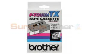 BROTHER TX TAPE BLACK ON CLEAR 18 MM X 15 M (TX-1411)