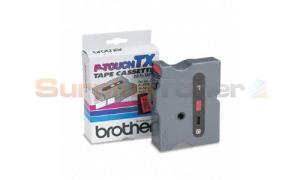 BROTHER P-TOUCH TAPE BLACK/RED (1/2 X 50) (TX-4511)