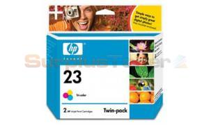 HP NO 23 INKJET PRINT CART TRI-COLOR (C6651FN)