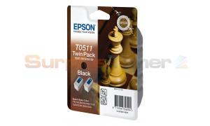 EPSON STYLUS COLOR 740 INK BLACK TWIN PACK (C13T05114210)