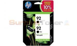 HP NO 92 INK BLACK TWIN PACK (SD430AN)