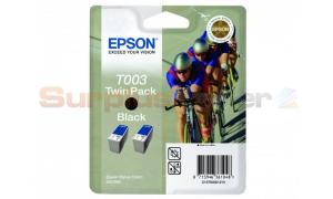 EPSON STYLUS COLOR 900 INK BLACK TWIN PACK (C13T00301210)