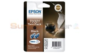 EPSON STYLUS C70 INK BLACK TWIN PACK (C13T03214210)