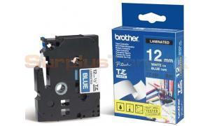 BROTHER P-TOUCH TAPE WHITE ON BLUE 12MM X 8M (TZ-535)