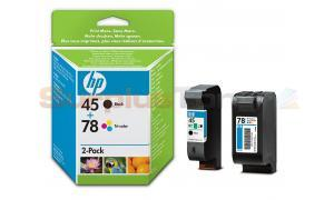 HP NO. 45 NO. 78 INKJET CARTRIDGES COMBO-PACK (SA308AE)