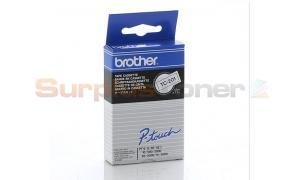 BROTHER P-TOUCH BLACK ON WHITE 12MM X 7.7M (TC-201)