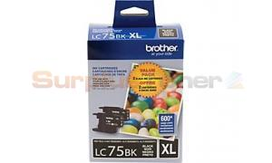 BROTHER MFC-J6910DW INK VALUE PACK BLACK HY (LC-75-2PKS)