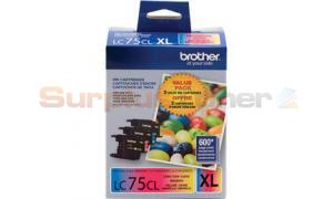 BROTHER MFC-J6910DW INK VALUE PACK COLOR HY (LC-75-3PKS)