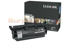 LEXMARK T650 X658 PRINT CARTRIDGE HIGH YIELD (T650H31E)