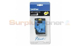 BROTHER P-TOUCH TAPE BLACK/YELLOW (1/2 X 25) (TC-7001)