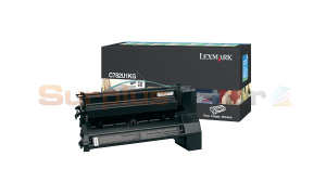 LEXMARK C782 XL PRINT CARTRIDGE BLACK RP 16.5K (C782U1KG)