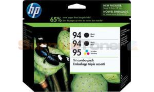 HP NO 94 95 INKJET CARTRIDGES TRI COMBO-PACK (CD943FN)