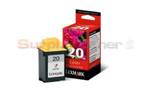 LEXMARK X4270 NO 20 PRINT CARTRIDGE COLOR (15M0120A)