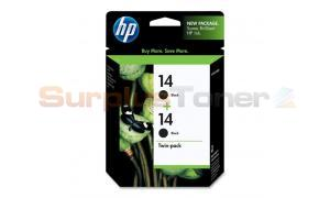 HP NO 14 INK CARTRIDGE BLACK TWIN-PACK (C9330FN#140)