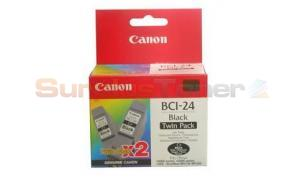 CANON BCI-24 INK TANK BLACK TWIN PACK (6881A010)