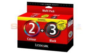 LEXMARK NO 2 NO 3 INK BLACK COLOR MULTI PACK (18C1737)