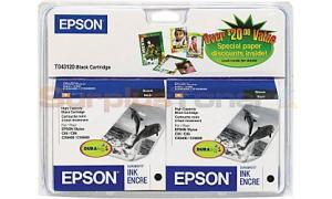 EPSON STYLUS C84 INK CARTRIDGES BLACK TWIN PACK HY (T043120-D1)
