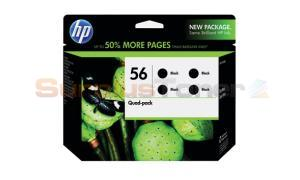 HP NO 56 INK CARTRIDGE BLACK QUAD-PACK (CD945FN)