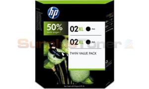 HP NO 02XL INK BLACK TWIN PACK (CD999BN)