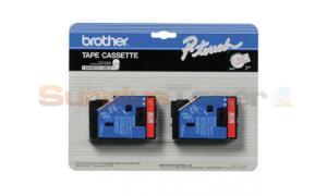 BROTHER P-TOUCH LABELERS RED/CLEAR 1/2IN WIDTH (TC-11)