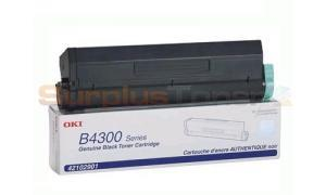 OKIDATA B4300/4350 TONER CARTRIDGE BLACK 6K (42102901)