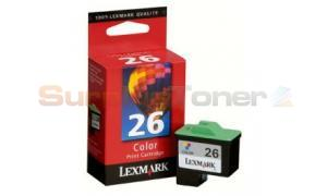 LEXMARK NO 26 PRINT CARTRIDGE COLOR (10N1126)