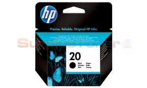HP NO 20 INKJET PRINT CARTRIDGE BLACK (C6614D)