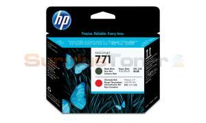 HP NO 771 DESIGNJET PRINTHEAD MATTE BLACK/CHROMATIC RED (CE017A)